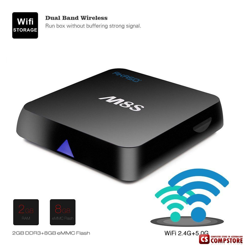 akaso m8s 4k android tv box baku bakida almaq satis. Black Bedroom Furniture Sets. Home Design Ideas