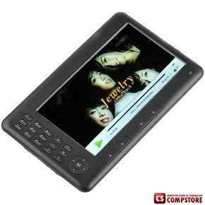 "E-Book Reader RockChip 7"" TFT  Media Player with FM Radio/Voice Recorder/TF Slot/8GB Flash"