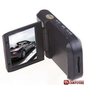 "Авто Видео регистратор  Compact 2.5"" LCD Windshield Suction Style Car CMOS Rechargeable Camcorder Vehicle Video Recorder+ Car Charger"