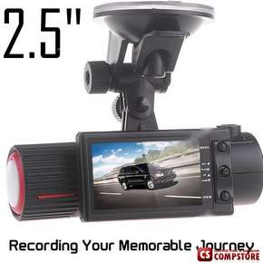 "Авто Видео регистратор  2.5"" TFT Dual Lens CMOS Sensor 140° Wide Angle Car DVR Traffic Recorder with TF Slot"