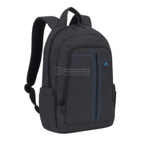 RivaCase 7560 Black Canvas Laptop Bagpack Alpendorf Series 15,6-inch