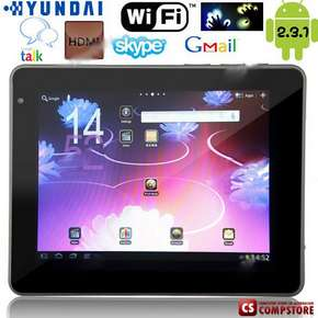"Планшет ""Hyundai"" S900 9.7"" Capacitive Touchscreen Android 2.3 Tablet Flat PC (CPU RK2918 Cortex-A8 ARMv7/RAM 306.7MB/ 16GB HD)"