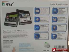 "Планшет i-Nix NTB-970L Tablet PC ( 9,7"" Touchscreen/ 1.2 GHz CPU/ 1 GB DDR3/ 8 GB Storage/ Android 4.0 Ice Cream Sandwich/ Wi-Fi)"