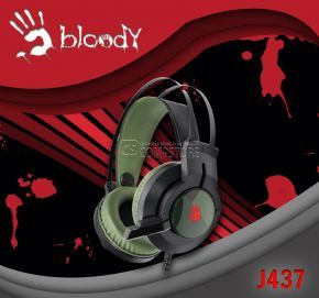 Bloody J437 Army Green Gaming Headset