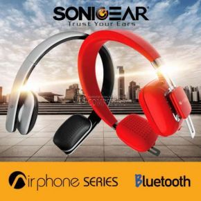 SonicGear Headphone AirPhone 300L Wine Red Bluetooth