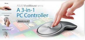 ASUS VivoMouse WT710 A 3-in-1 PC Controller – A Mouse, Touchpad and Wireless Remote