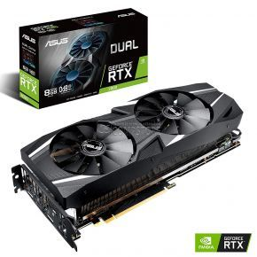 ASUS GEFORCE® RTX2080 (DUAL-RTX2080-O8G) (90YV0C33-M0NM00) (8 GB | 256 bit)