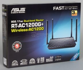 ASUS RT-AC1200G+ WiFi Dual-Band Gigabit Wireless Router (MiMo | Gigabit Lan | 3/4G | AirProtection)