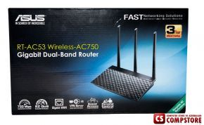 ASUS RT-AC53 (90IG02Z1-BM3000) Dual-Band Wireless AC750 Router