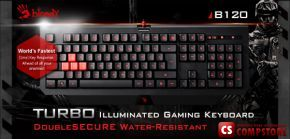 A4Tech Bloody B120 Turbo illuminated Gaming Keyboard