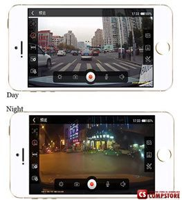 Accfly™ Full HD 1080P Car DVR recorder WI-FI APP support IOS & Android system