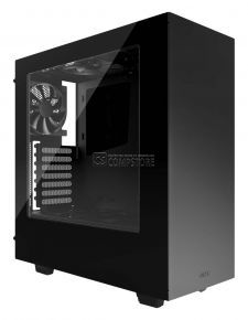 NZXT S340 Mid Tower Computer Case Glossy Black (CA-S340W-B1)