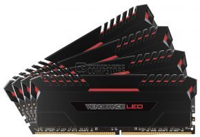 DDR4 Corsair VENGEANCE® LED 64GB (4 x 16GB) DDR4 DRAM 3000MHz C15 Memory Kit - Red LED (CMU64GX4M4C3000C15R)