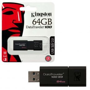 Kingston DataTraveler G3 100 64 GB USB 3.0 (DT100G3/64GB)