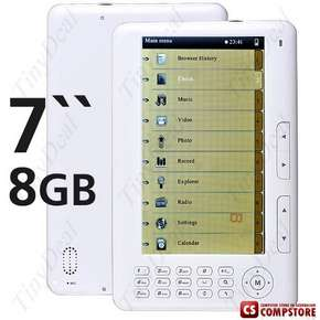 "E-Book Reader 7"" TFT Digital Pocket Edition Media Player / FM Radio / MP3 MP5 / Voice Recorder 8GB Flash"