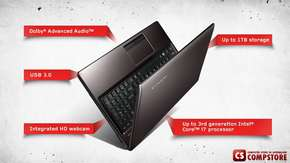 "Ноутбук Lenovo B575E (20189) (AMD E1-1200 1.4 GHz/ 4 GB DDR3/ HDD 320 GB/ ATI Radeon 6310 1 GB/ LED 15""6/ DVD RW/ Wi-Fi/ Bluetooth)"