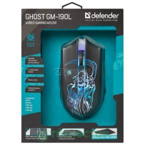 Gaming Mouse Defender Ghost GM -190L (6 Button | 3200 DPI)