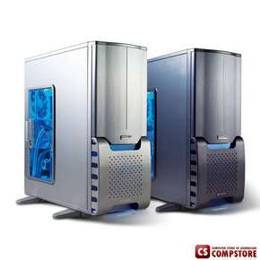 Корпус Gigabyte SUMO 4192 Case (High End Styled aluminum 1,0mm  Transparent front panel/ ATX /Tool-less, 2*12cm silent blue LED  fan)