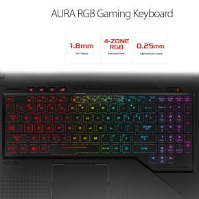 ASUS ROG STRIX GL503VS-DH74 SCAR Edition (Intel® Core™ i7-7700HQ/ DDR4 16 GB/ NVIDIA® GeForce® GTX1070 8 GB/ SSD 256 GB/ HDD 1 TB/ LED FHD 15.6-inch 144 Hz/ Wi-Fi/ Win10)