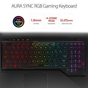 ASUS ROG Strix Scar Edition GL703GE-ES73 (Intel® Core™ i7-8750H/ DDR4 16 GB/ NVIDIA® GeForce® GTX1050Ti 4 GB/ SSD 120 GB/ HHD 1 TB/ LED FHD 17.3-inch 120 MHz 3 ms / Wi-Fi/ Win10)