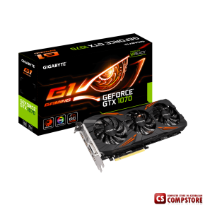 GIGABYTE GEFORCE® GTX 1070 G1 Gaming (GV-N1070G1 GAMING-8GD) (8 GB | 256 bit)