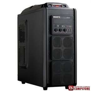 Игровой Корпус Gigabyte GZ-G3 Plus (Gaming chassis 0,60mm Front : 2 x 12 cm fan Rear: 1*8cm fan Top: 1 x 12 cm Fan  and 2*USB 2.0 ports HD Audio 2*USB 3.0 ports  / ATX /Tool-less,  GOLD)