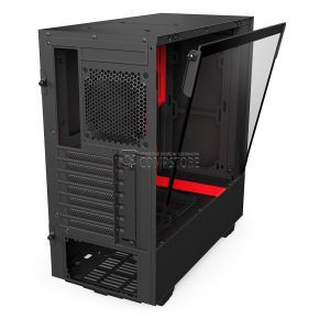 NZXT H500 ATX Black/RED Computer Case (CA-H500W-BR)