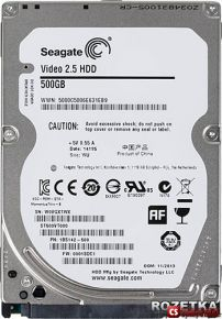 Жесткий диск Seagate Video 2.5 500 GB 5400 rpm (ST500VT000)