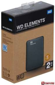 "Внешний жесткий диск WD Elements Portable 2 TB External 2.5"" USB3.0 (WDBU6Y0020BBK-EESN)"