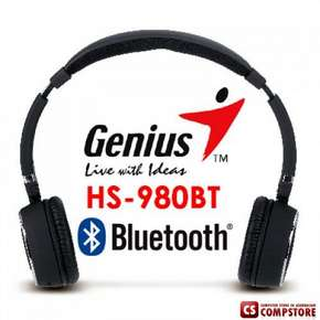 Bluetooth headset Genius HS-980BT Блутуз гарнитура for Phone/ iPad/ Tablets/ PC