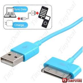 Dock Connector to USB Male Power & Data Sync Cable for Apple 4G 3G 3GS iPod Classic Nano Touch iPad