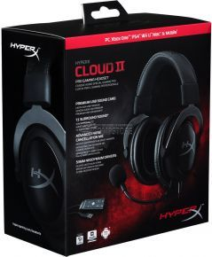 Kingston HyperX Cloud II Gaming Headset for PC & PS4 - Gun Metal (KHX-HSCP-GM)