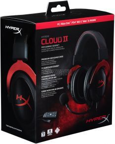 Kingston HyperX Cloud II Gaming Headset for PC & PS4 - RED (KHX-HSCP-RD)