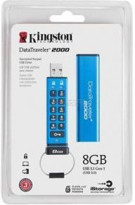 Kingston DataTraveler 2000 Encrypted Keypad USB Flash Drive 16 GB