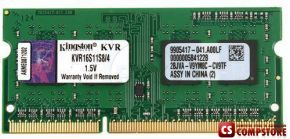 Kingston KVR16LS11/4 4GB 1Rx8 512M x 64-Bit PC3L-12800 CL11 204-Pin SODIMM