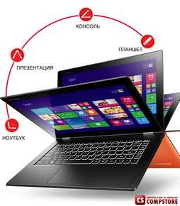 Ультрабук Lenovo Yoga 2 13 (59422679) (Intel® Core™ i7-4510U/ DDR3 8 GB/ SSD 256 GB/ Quad HD Touch 13.3/ Bluetooth/ Wi-Fi/ Win8.1)