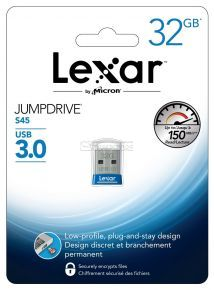 Lexar JumpDrive S45 32GB USB 3.0 Flash Drive - (LJDS45-32GABNL) (Blue)