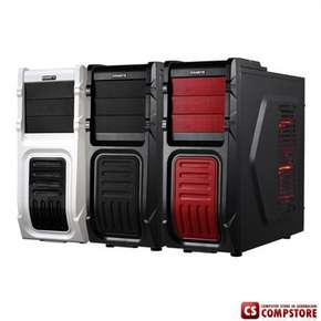 Игровой Корпус Gigabyte Luxo M10 (Gaming chassis 0,60mm Front 1x USB 3.0+2xUSB2.0 + HD AUDIO / ATX /Tool-less, red)