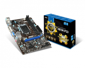 Mainboard MSI H81-P33 (1150 Socket)