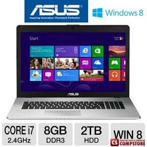 ASUS N76VJ  (Core i7-3630QM/ DDR3 8 GB/ 256 GB SSD/ HDD 750 GB/ nVidia GeForce 630M 2 GB/ 17