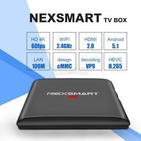 NEXSMART Android TV Box Quad Core (Wi-Fi/ FHD)