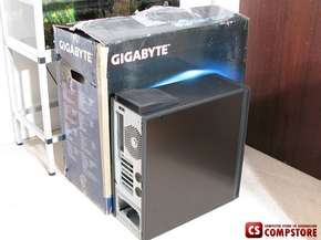 Корпус Gigabyte 3D Mercury Case (High End Styled aluminum 1,0mm with built-in watercooling system Transparent front panel  E-ATX / CEB / ATX /Tool-less, 2*12cm silent blue LED  fan)