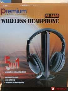 Wireless Наушник Premium PR-8400 (Audio/ MP3/ TV/ PC/ CD/ DVD/ FM Radio)