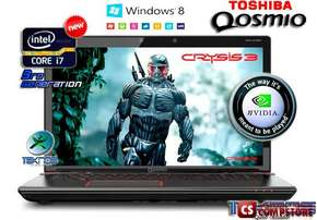 "Ноутбук  Toshiba Qosmio X875-Q7190 (PSPLZU-06R002) (Intel® Core™ i7-3630QM/ DDR3 12 GB/ HDD1000 GB/ nVidia GeForce GTX 670 3 GB/ Full HD LED 17.3""/ DVD RW/ Bluetooth/ Wi-Fi/ Windows 8)"