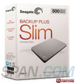 External HDD Seagate Slim Backup Plus 500 GB USB 3.0 (7636490045882)