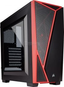 Carbide Series® SPEC-04 Mid-Tower Gaming Case — Black/Red