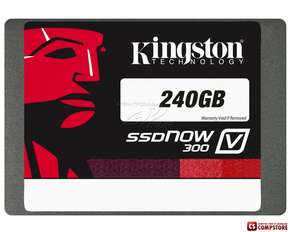 SSD Kingston V300 240 GB / SATA-III  (450/450MBs, SF-2281, MLC, SATA 6GBs)