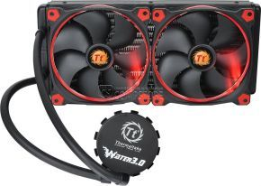 Thermaltake Water 3.0 AM4 Support 280 Riing RED Edition Liquid Cooling System (CL-W138-PL14RE-A)