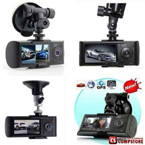 "DVR R2300 G-sensor GPS Dual Lens HD 2.7"" Car DVR Auto Crash CAM Camera"