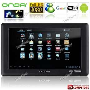"Планшет ""ONDA"" VX610W 7"" Display Touch Android 4.0.3 OS Tablet PC with WiFi/ G-sensor (CPU 1008.0MHZ / RAM 354.2MB / 8GB HD)"